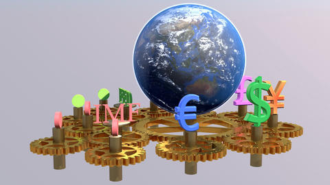 Global finance concept, global business background, financial collage, financial Animation