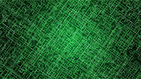 Abstract lines in green color Animation