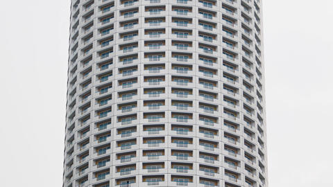 Unique. High Rise Condominium Tower with Cylindrical Design Footage
