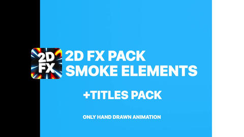 2D Cartoon Smoke Apple Motion Template