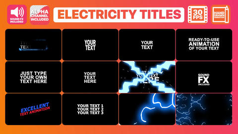 Electricity Titles Collection Plantilla de Apple Motion