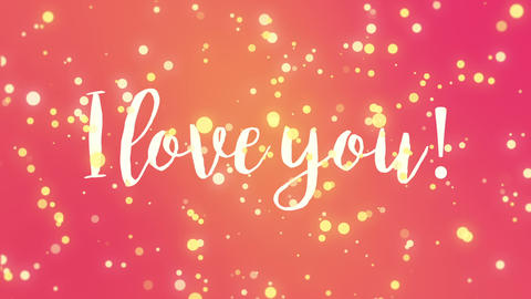 Animated colorful I love you Valentine card Animation