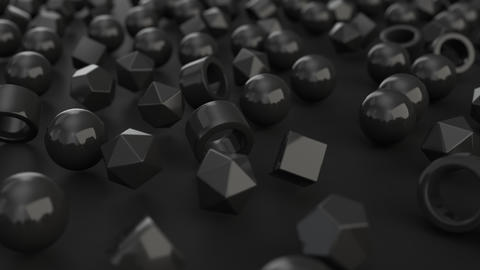 1077 Animation of pattern from black primitives moving from chaos to order GIF