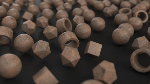 1092 Animation of pattern from wooden primitives moving from chaos to order GIF