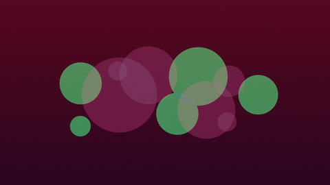 Slow Green And Purple Circles Seamlessly Looping Video Background Animation