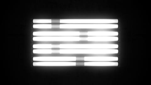Fluorescent Lights Chase Single Seamlessly Looping Video Background Animation