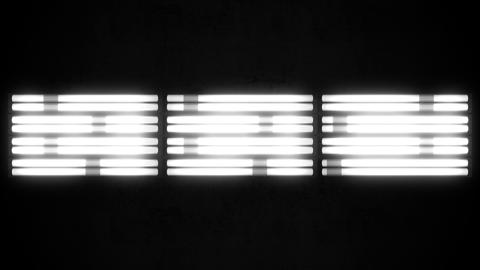 Fluorescent Lights Chase Triple Seamlessly Looping Video Background Animation