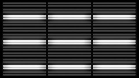Fluorescent Lights Sequence Grid Seamlessly Looping Video Background Animation