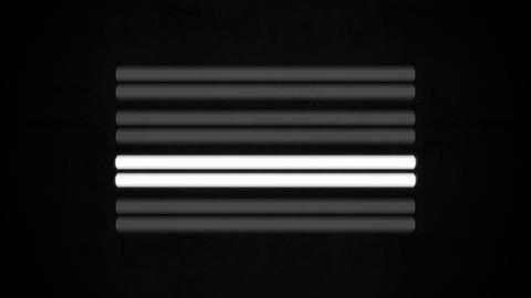 Fluorescent Lights Sequence Single Seamlessly Looping Video Background Animation