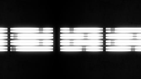 Fluorescent Lights Chase Triple Moving Seamlessly Looping Video Background Animation