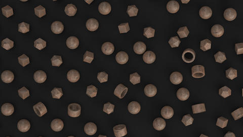 1089 Animation of pattern from wooden primitives moving from chaos to order GIF