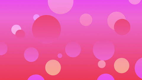 Slow Colored Circles On Pink Background Seamlessly Looping Video Background Animation