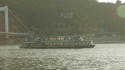 Pleasure Boat At Sunset Live Action