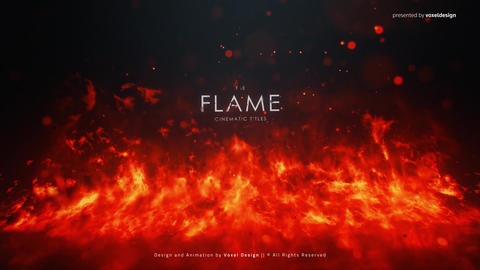 FLAME Cinematic Titles After Effectsテンプレート