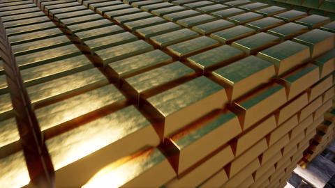 3d gold bars for concept design. Market trade. Background 3d. Financial concept Live Action