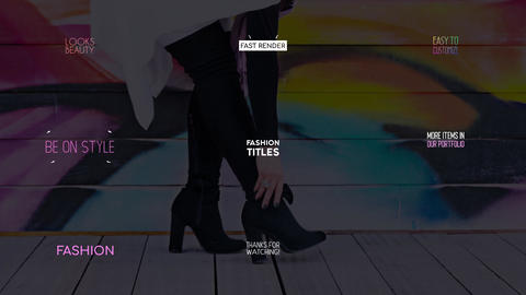 Fashion Titles Apple Motion Template
