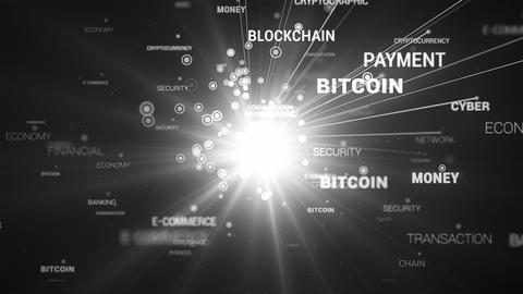 E-Commerce Blockchain Words Loop Connection Live Action
