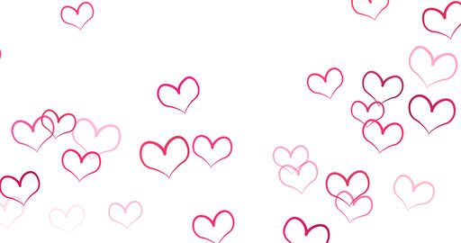 Romantic pattern with doodle red hearts. For St. Valentines Day. wedding Animation