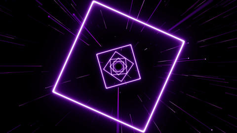 VJ light event concert dance music videos stage party abstract led neon tunnel background loop Animation