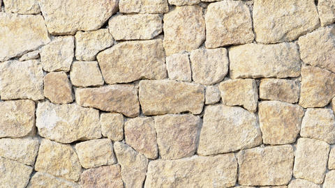 Stone wall. Outdoor background natural stone Live Action