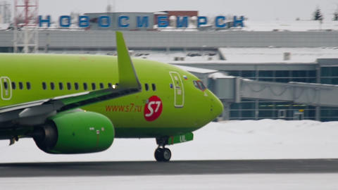 Boeing 737 accelerate before departure Live Action