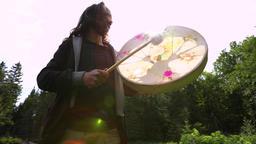 Sacred drumming spiritual nature trip Live Action