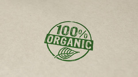 100 percent organic stamp and stamping animation Animation