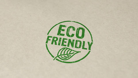 Eco friendly stamp and stamping animation Animation