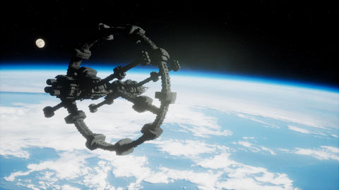 Earth and outer space station iss Live Action