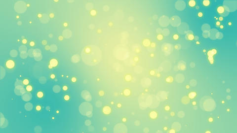Glowing turquoise blue yellow bokeh background Animation
