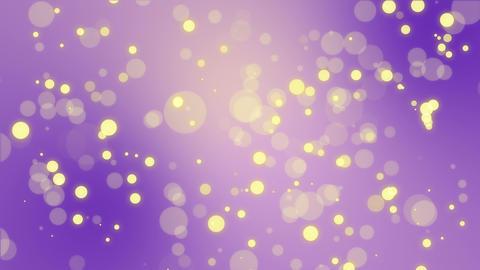 Glowing purple yellow bokeh background Animation