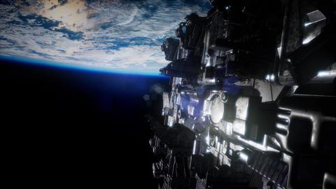 Alien UFO near Earth Live Action
