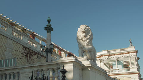 Statue Of Lion Old Architecture Live Action