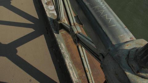 River And Pleasure Boat Under Bridge Live Action