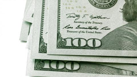 1080p Counting Dollars Macro Footage
