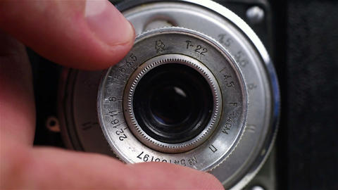 Photographer Fingers Focus Lens Footage