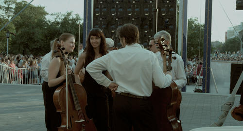 A professional Symphony orchestra. The fellowship of musicians. Behind the scene Footage