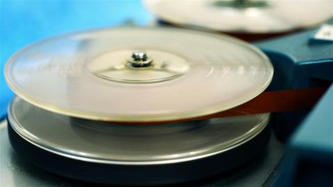 Retro Reel Audio Recorder Footage