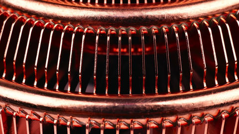 CPU Cooler With Heat Pipes Footage