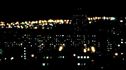 4K Night City Lights / Big City Landscape / Night Life Footage