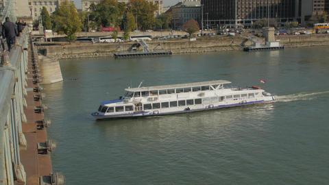 Pleasure Boat Under Bridge Live Action