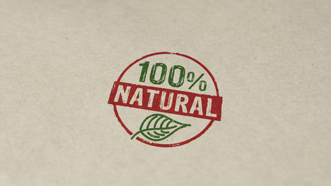 100 percent natural stamp and stamping animation Animation