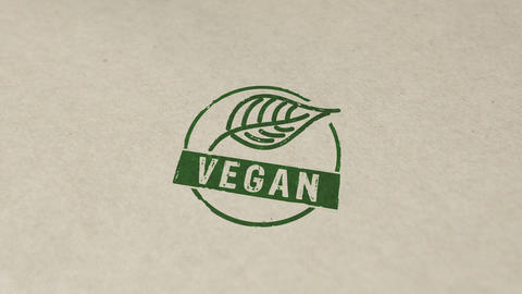 Vegan stamp and stamping animation Animation
