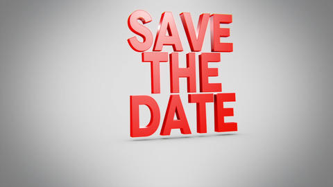 Save the date-Text Pop Three Lines Animation