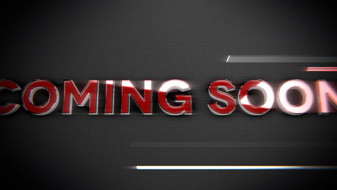 Coming soon-Glass and Chrome Title Animation