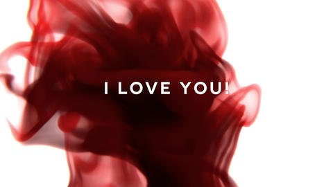 I love you-Ink Drop Title Animation