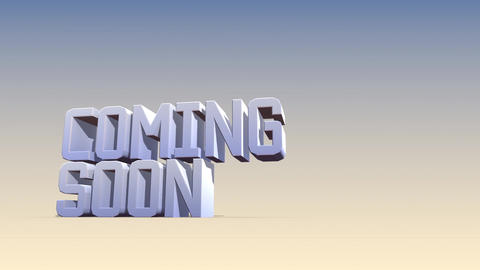Coming soon-Textfall Outro Animation