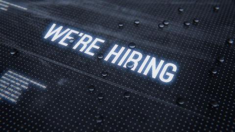Were hiring-Rainy Glass Title Animation
