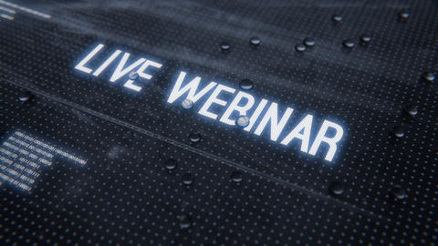Live webinar-Rainy Glass Title Animation