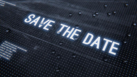 Save the date-Rainy Glass Title Animation